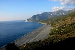 Maison d'hôte en Corse A Sulana la plage de sable noir de nonza