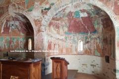 Maison d'hôte en Corse A Sulana les fresques de la Chapelle Santa Cristina