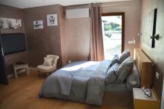 Maison d'hôte en Corse A Sulana notre chambre Castagniccia vue vers l'exterieur