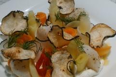 Maison d'hôte en Corse A Sulana notre plat radis St Jacques