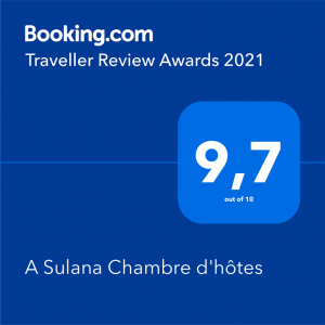 Maison d'hôtes A Sulana en Corse - Note de Booking -