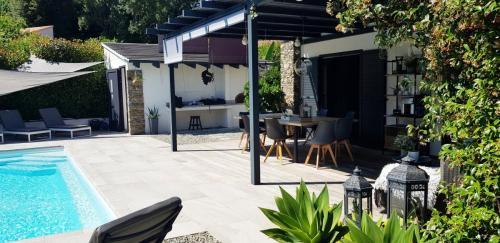 Maison d'hôtes A Sulana en Corse -la terrasse-
