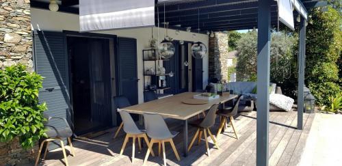 Maison d'hôtes A Sulana en Corse - la terrasse -
