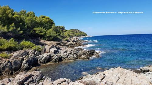 Maison d'hôte en Corse A Sulana chemin des douaniers Loto Saleccia