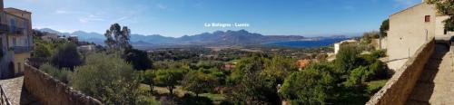 Maison d'hôte en Corse A Sulana Lumio avec sa vue sur la Balagne