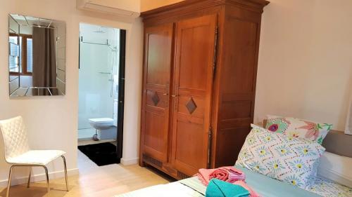 Maison d'hôte en Corse A Sulana notre chambre Nuciola vue sur la salle de bain