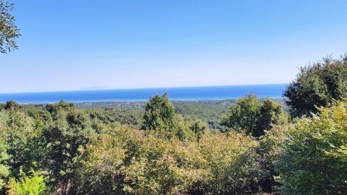 Maison d'hôte en Corse A Sulana vue sur l'île d'Elbe