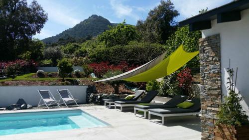 Maison d'hôte en Corse A Sulana la piscine